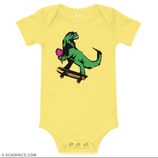 Baby One Piece Outfit, T-Rex Skate Punk